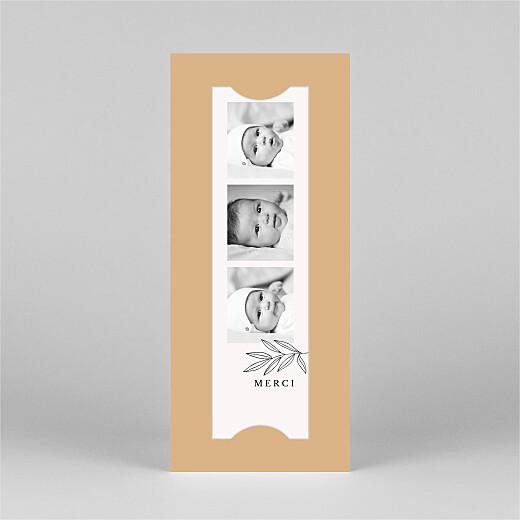 Carte de remerciement Jeune pousse (marque-page) orange - Vue 2
