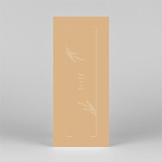 Carte de remerciement Jeune pousse (marque-page) orange - Vue 3