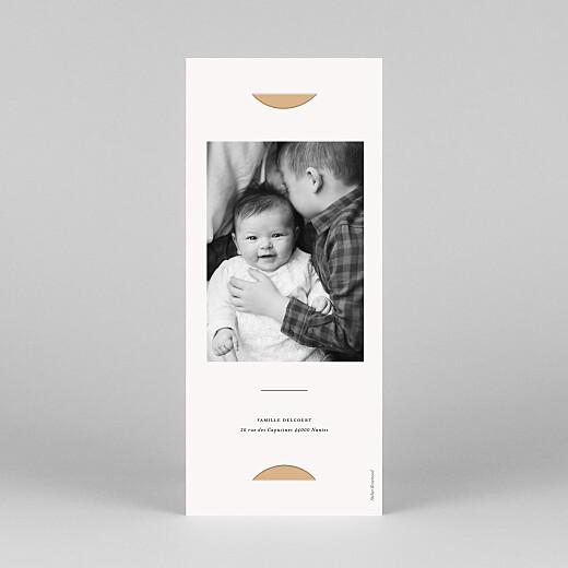Carte de remerciement Jeune pousse (marque-page) orange - Vue 4