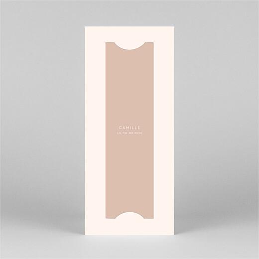 Carte de remerciement Elégant cœur (marque-page) rose - Vue 3