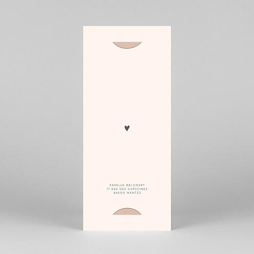 Carte de remerciement Elégant cœur (marque-page) rose - Vue 4