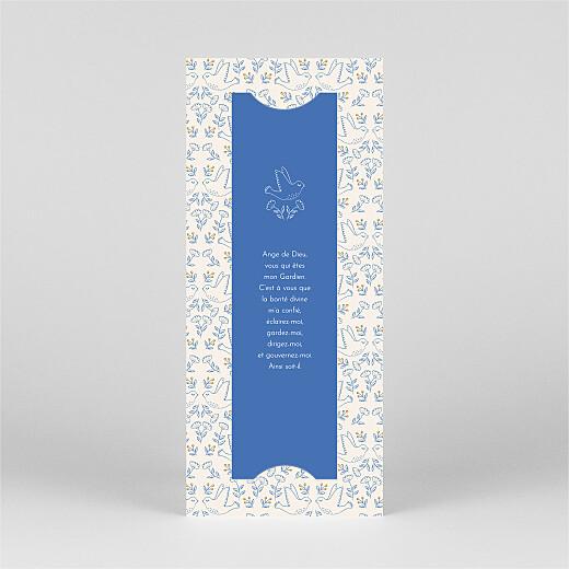 Faire-part de baptême L'envolée (marque-page) bleu - Vue 3
