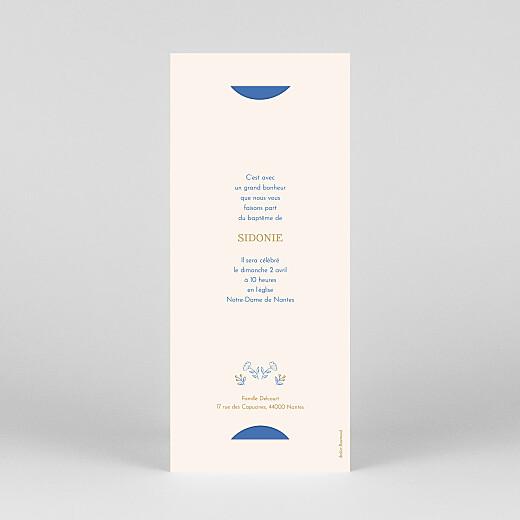 Faire-part de baptême L'envolée (marque-page) bleu - Vue 4