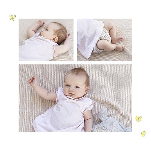 Faire-part de naissance Petits lapins (1 enfant) garçon - Page 2