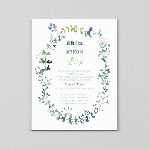 Faire-part de mariage Bouquet sauvage (calque) bleu - Vue 2