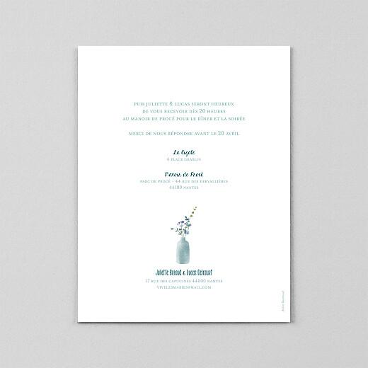 Faire-part de mariage Bouquet sauvage (calque) bleu - Vue 3
