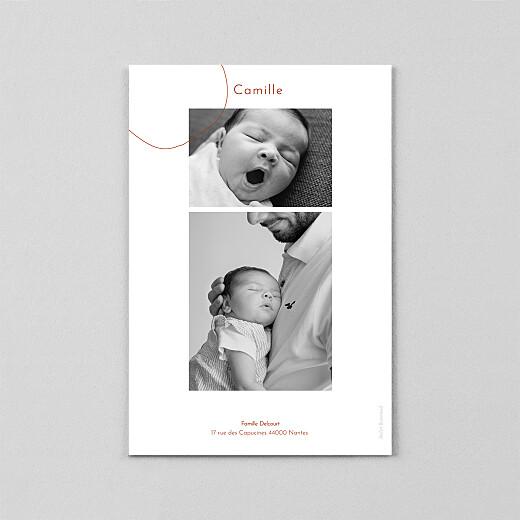 Faire-part de naissance Ricochet (calque) terracota - Vue 3
