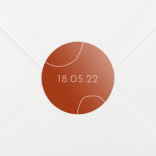 Stickers pour enveloppes naissance Ricochet terracota - Vue 2