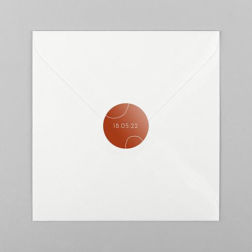 Stickers pour enveloppes naissance Ricochet terracota - Vue 1