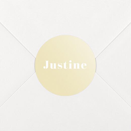 Stickers pour enveloppes naissance Monochrome jaune - Vue 2