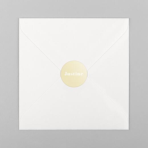 Stickers pour enveloppes naissance Monochrome jaune - Vue 1