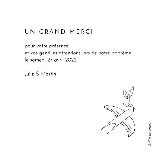 Carte de remerciement Orphée blanc - Page 2