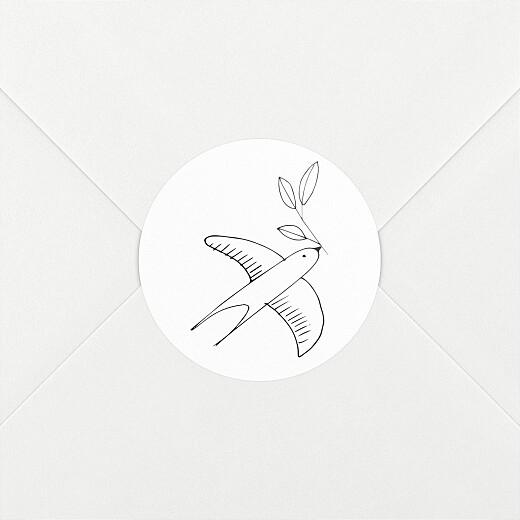 Stickers pour enveloppes naissance Orphée blanc - Vue 2