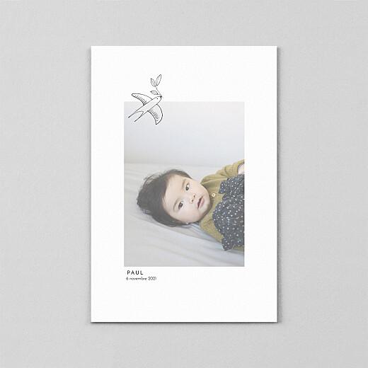 Faire-part de naissance Orphée (calque) portrait blanc - Vue 2