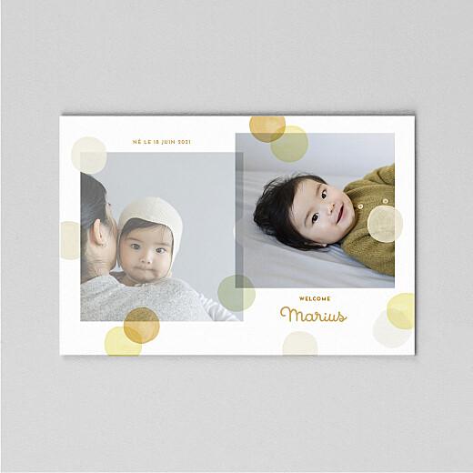 Faire-part de naissance Confettis (calque) jaune - Vue 2