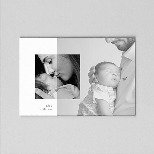 Faire-part de naissance Sobre (calque) paysage blanc - Vue 2