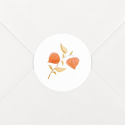Stickers pour enveloppes naissance Quatre saisons automne - Vue 2