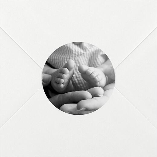 Stickers pour enveloppes naissance Sobre blanc - Vue 2