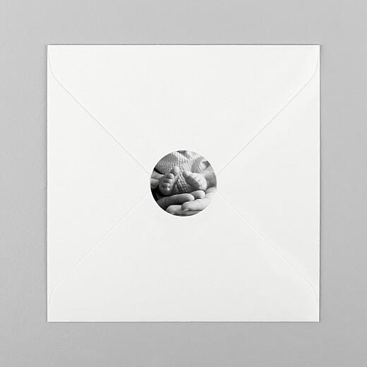 Stickers pour enveloppes naissance Sobre blanc - Vue 1