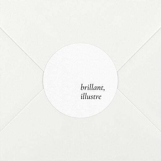 Stickers pour enveloppes naissance Étymologie blanc - Vue 2