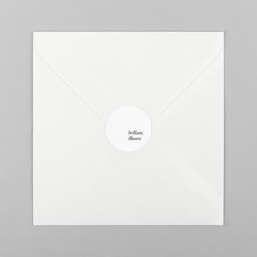 Stickers pour enveloppes naissance Étymologie blanc - Vue 1