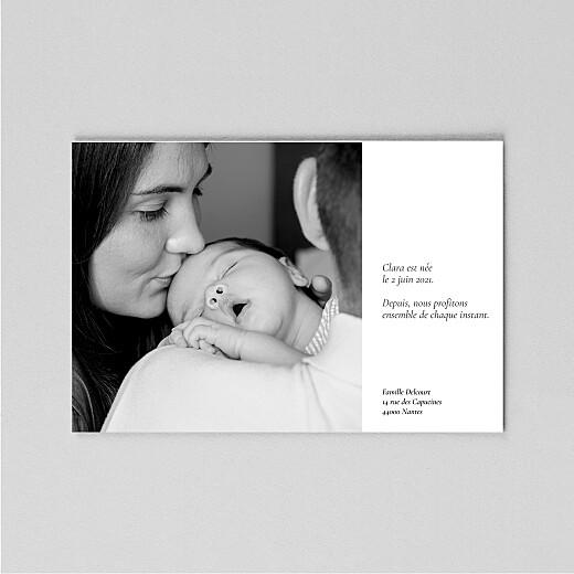 Faire-part de naissance Étymologie (calque) blanc - Vue 3