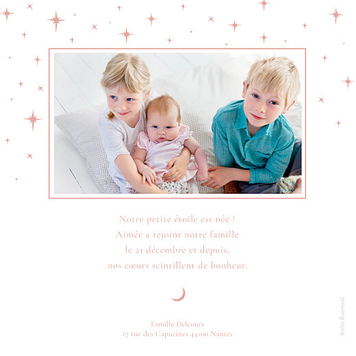 Faire-part de naissance Sous les étoiles rose - Page 2