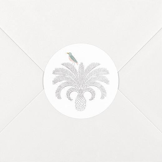 Stickers pour enveloppes baptême Oiseaux de paradis noir - Vue 2