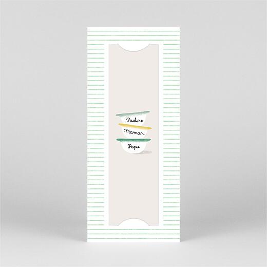 Faire-part de naissance Petits bols (marque-page) (1 enfant) vert - Vue 2