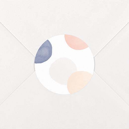 Stickers pour enveloppes naissance Confettis bleu - Vue 2