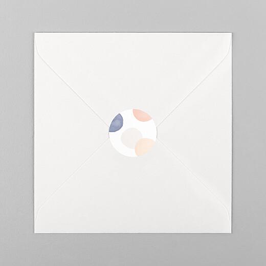 Stickers pour enveloppes naissance Confettis bleu - Vue 1