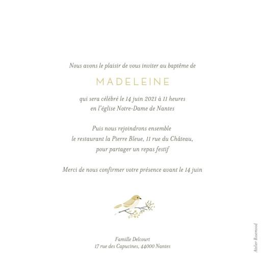 Faire-part de baptême Mon petit trousseau beige - Page 2