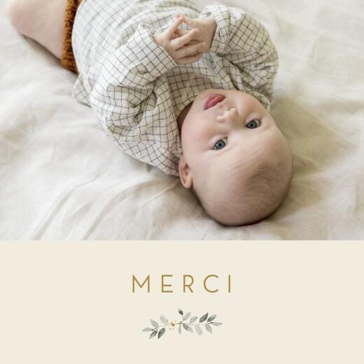 Carte de remerciement Mon petit trousseau beige