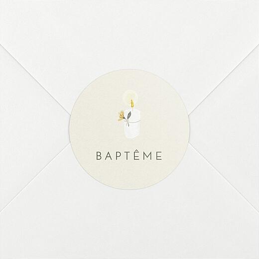 Stickers pour enveloppes baptême Mon petit trousseau beige - Vue 2