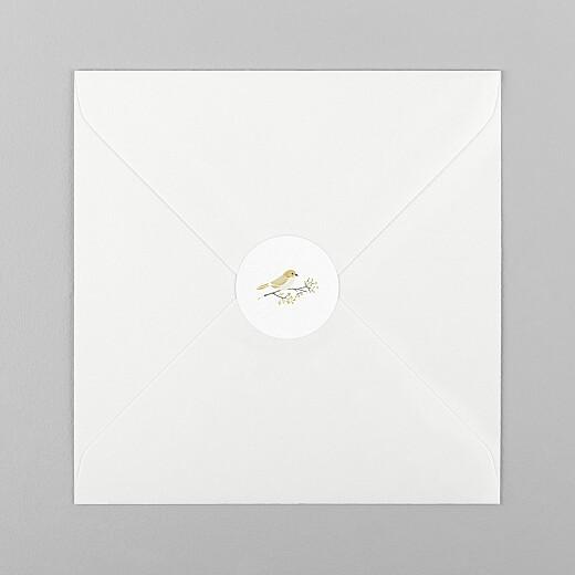 Stickers pour enveloppes baptême Mon petit trousseau beige - Vue 1