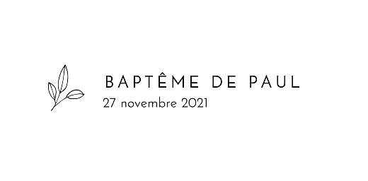 Marque-place Baptême Orphée blanc