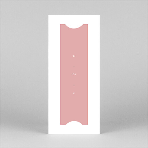 Faire-part de communion Elégant cœur (marque-page) rose - Vue 3