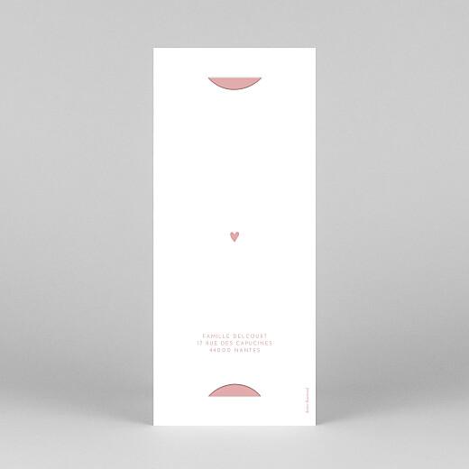 Faire-part de communion Elégant cœur (marque-page) rose - Vue 4