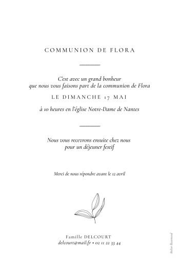 Faire-part de communion Poésie amoureuse blanc - Page 2