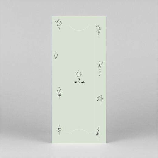 Faire-part de communion Herbier (marque-page) vert - Vue 3