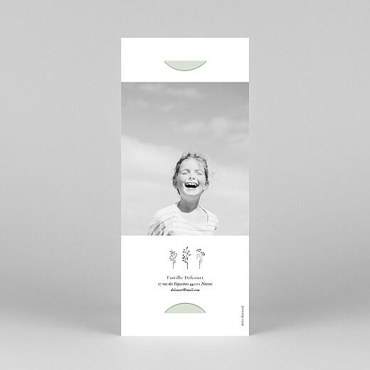 Faire-part de communion Herbier (marque-page) vert - Vue 4