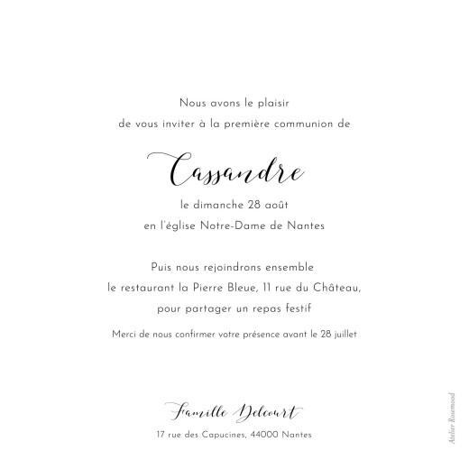 Faire-part de communion Tendre innocence blanc - Page 2