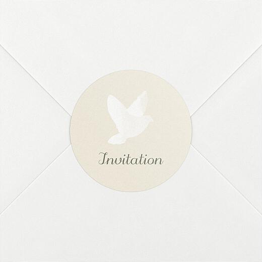 Stickers pour enveloppes baptême Douce lueur blanc - Vue 2