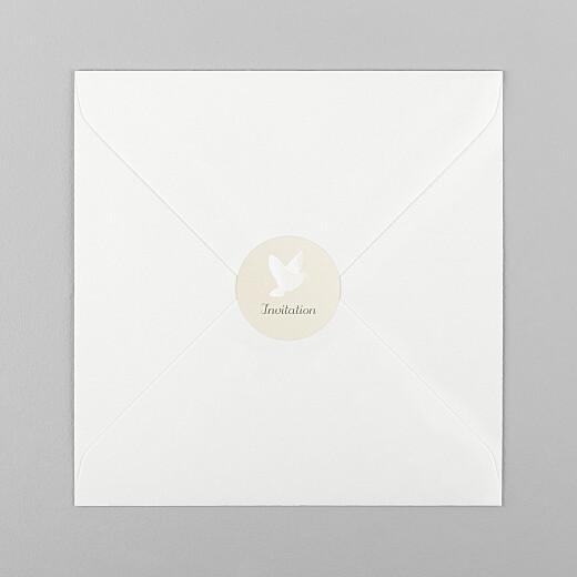 Stickers pour enveloppes baptême Douce lueur blanc - Vue 1