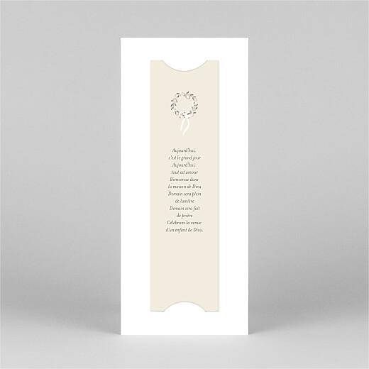 Faire-part de communion Douce lueur (marque-page) rose - Vue 3