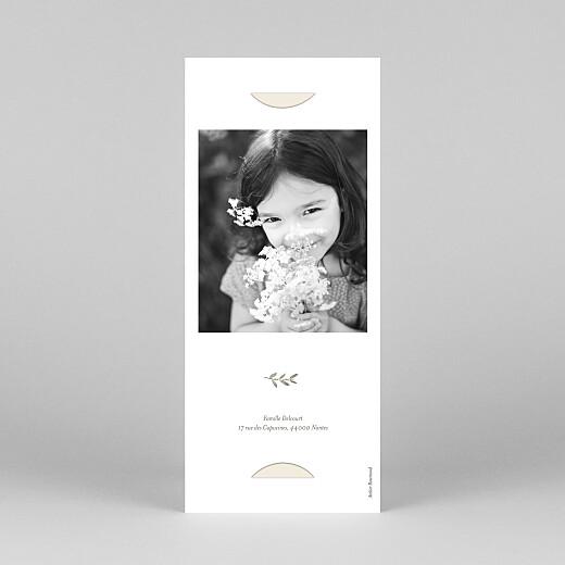 Faire-part de communion Douce lueur (marque-page) rose - Vue 4