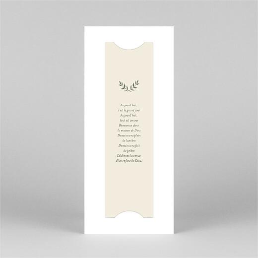 Faire-part de communion Douce lueur (marque-page) jaune - Vue 3