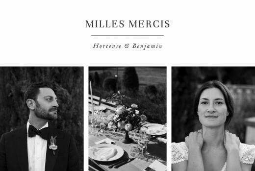 Carte de remerciement mariage Doux instants (paysage) blanc