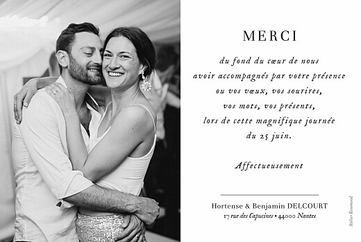 Carte de remerciement mariage Doux instants (paysage) blanc - Page 2