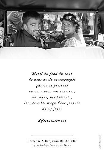 Carte de remerciement mariage Doux instants (portrait) blanc - Page 2